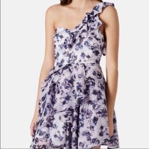 NWT topshop one shoulder dress size 10